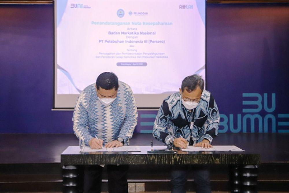 PT Pelindo III Jalin Kerjasama Dengan BNN