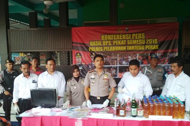 Polres Pelabuhan Tanjung Perak Tangkap 450 Preman