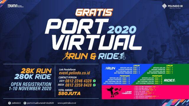 Pelindo 3 Gelar Port Virtual Run and Ride 2020