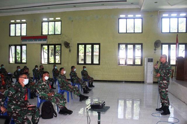 Mayor Yopi Wahyu Susilo Sosialisasi Hukum ke Prajurit