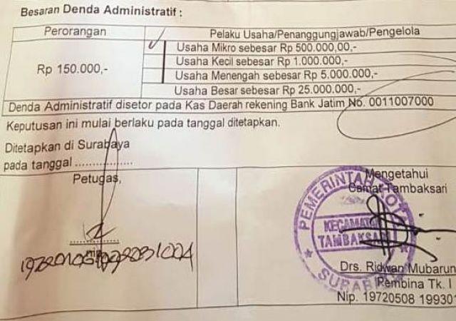 Razia Malam, Pemilik Warung Didenda Rp 500 Ribu