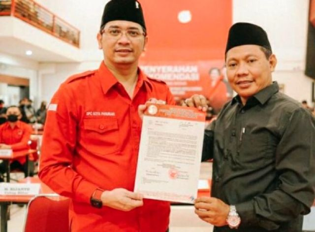 PDIP Merekom Teno Maju Pilwali Kota Pasuruan