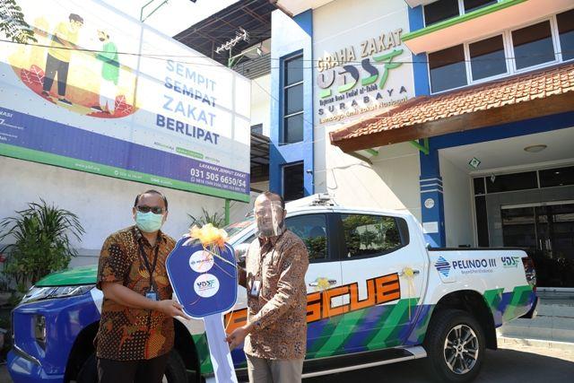PT Pelindo 3 Sumbang 1 Mobil Rescue ke YDSF