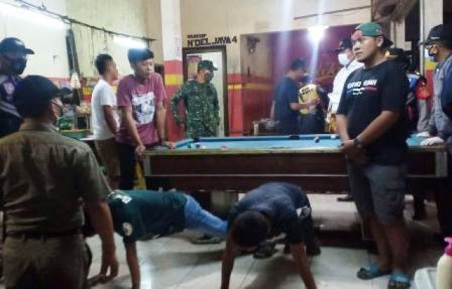 Tiga Pilar Surabaya Utara Sanksi Pengunjung Warung