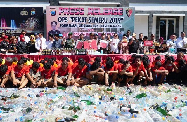 Semeru 2019, Kasus Narkoba Surabaya Mendominasi