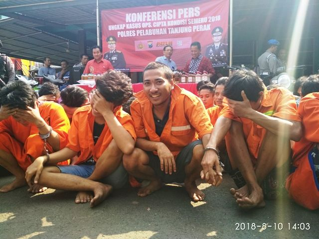 137 Penjahat Diamankan Polres Tanjung Perak