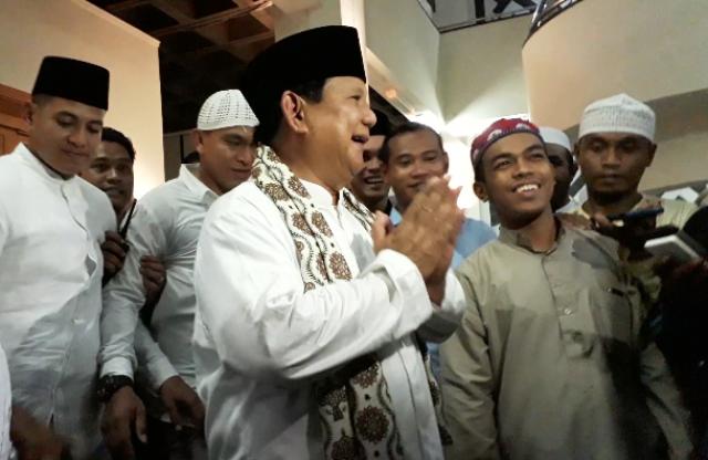 Prabowo Subianto Diundang Bersholawat
