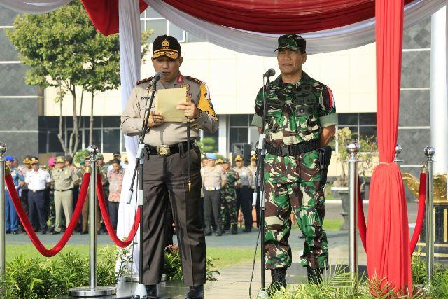 Ribuan Personel TNI & Polri Jaga Pilkada Jatim