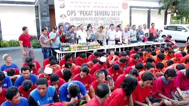 12 Hari, Polrestabes Surabaya Jaring 2948 Preman