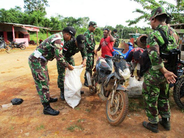 Satgas Raider Sweeping Perbatasan Indonesia-Papua Nugini