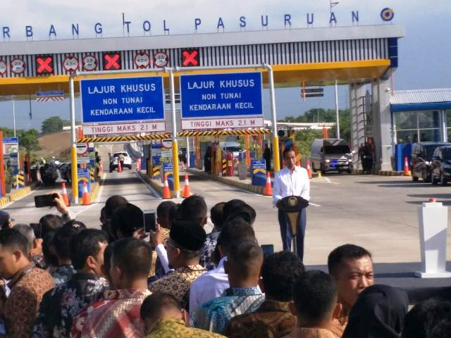 Presiden Jokowi Resmikan Tol Gempol-Pasuruan