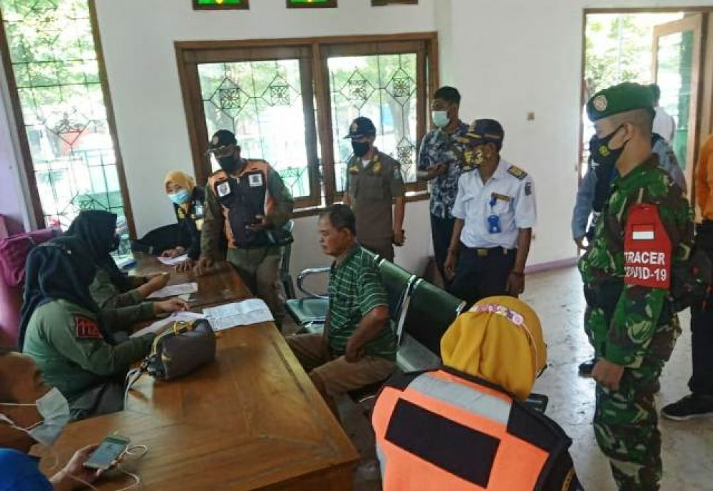 Razia 55 Pelanggar Prokes di Kelurahan Ampel