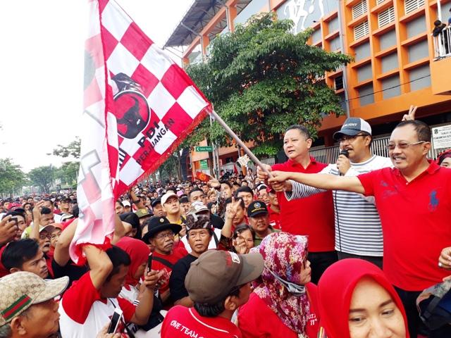 Tanpa Megawati HUT PDIP ke 45 Meriah