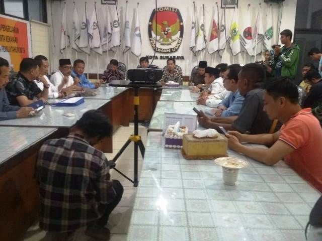 6 Parpol Minta KPU Surabaya Perhitungan Ulang