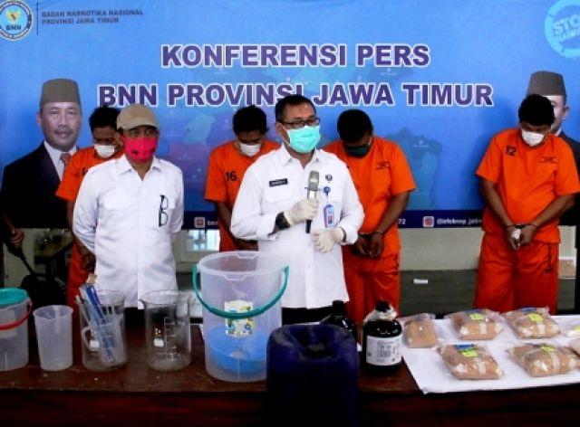 BNNP Jatim Bongkar Home Industri Sabu Semarang