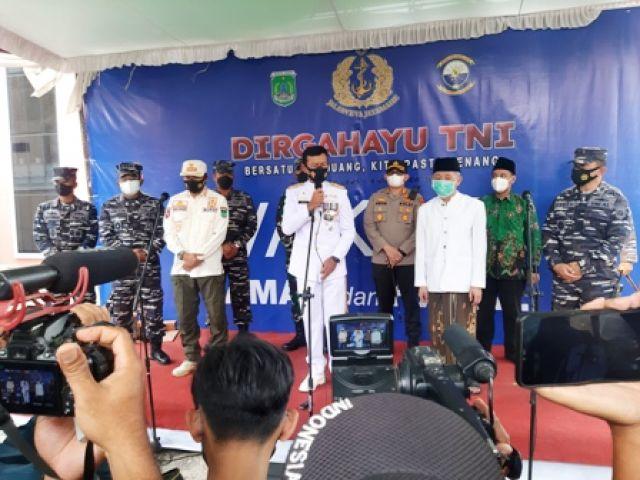 HUT TNI ke-76, Koarmada II Kunjungi Ponpes Ngalah
