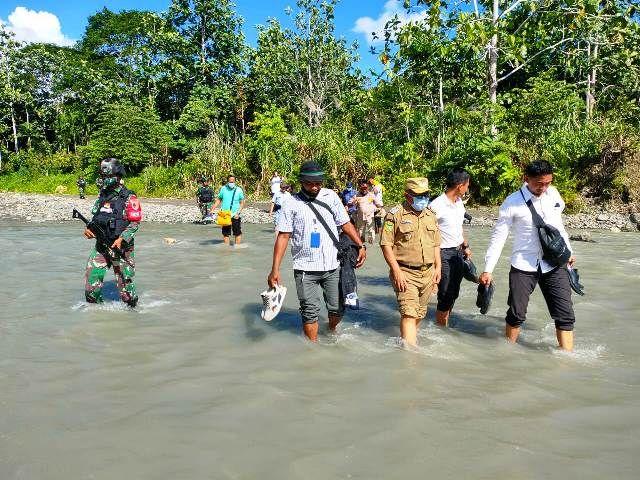 BNPP Tinjau Pembangunan PLBN di Distrik Waris