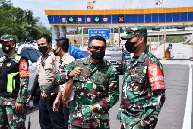 Gerbang Exit Tol Singosari Dijaga Ketat