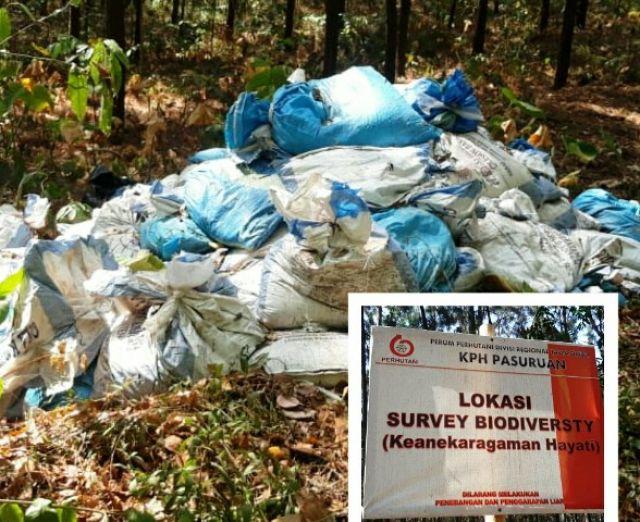 KPH Pasuruan Timbun Limbah di Hutan Produksi