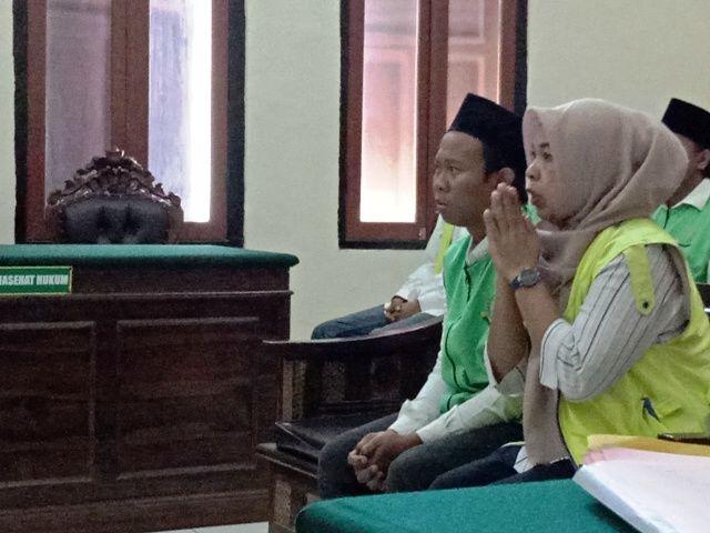 Nurhayati dan Arif Berterimakasih Dihukum 5 Bulan