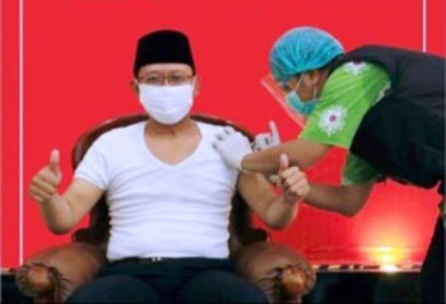 Mas Dion Ajak Masyarakat Tidak Takut di Vaksin