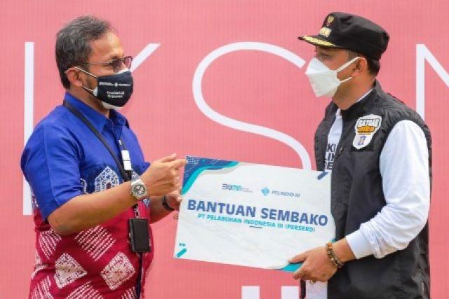 Pelindo III Sumbang Sembako ke Pemkot Surabaya