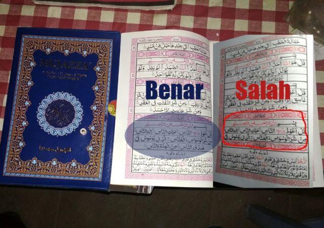 Ngawur! 3000 Al-Qur'an Salah Disebar