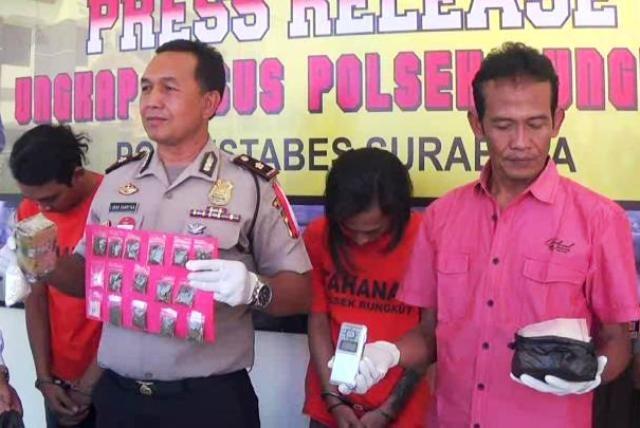 Polisi Tangkap Pengedar Narkoba Medokan Ayu