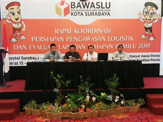 Bawaslu Koordinasi Panwascam Persiapan Logistik
