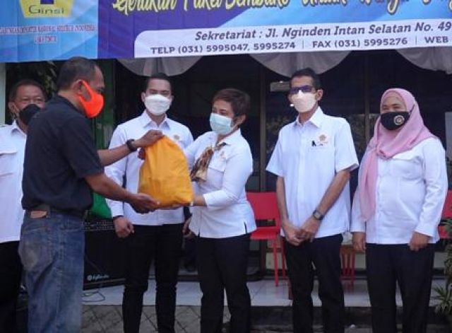 Ginsi Jatim Bagikan 200 Paket Sembako