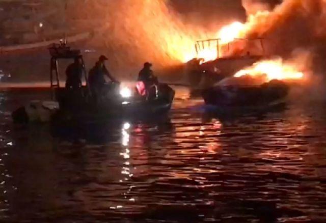 5 Kapal Patroli Kemenhub Terbakar
