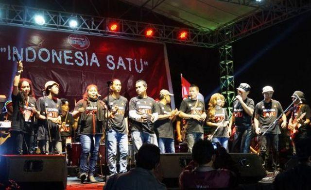 Konser Indonesia Satu Bentuk PAPPRI Surabaya