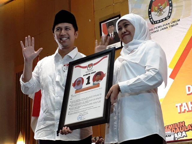 Khofifah dan Emil No 1, Saifullah dan Puti No 2