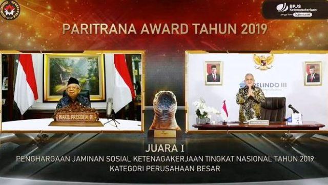 PT Pelindo 3 Raih Juara 1 Paritrana Award 2019