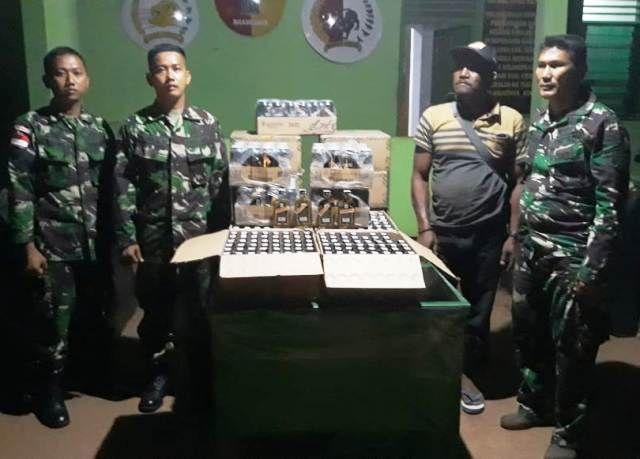 TNI Perbatasan Papua dan Kalimantan Rampas Barang Selundupan