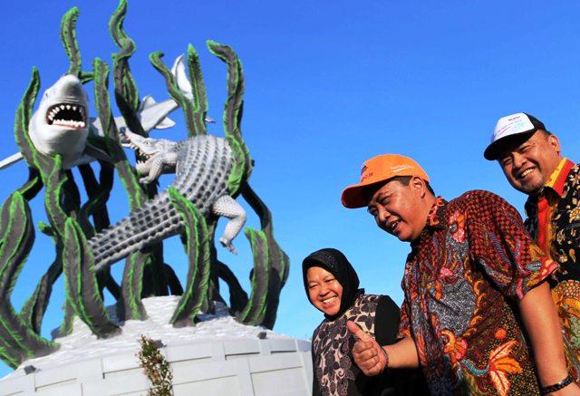 Patung Surabaya Tinggi 25,6 Meter Kado Pelindo III